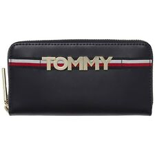 TOMMY HILFIGER Corporate Highlight Large Zip Wallet Geldbörse Corporate Blau Neu