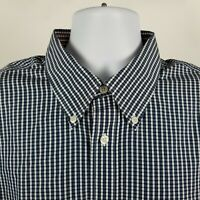 Brooks Brothers Regent Non Iron Supima Cotton Blue Check Dress Button Shirt XL