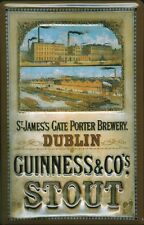 GUINNESS SAINT JAMES GATE Vintage Metal Pub Sign | 3D Embossed Steel | Home Bar
