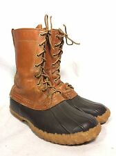VTG LL Bean Duck Boots Women's 8 EE Men's 6 EE Hunting Leather Made In USA!!
