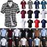 Men's Short Sleeve Shirt Slim Fit Button Down Dress Formal Casual T-shirt Tops