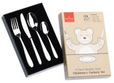 2 X Twin Pack Grunwerg Stainless Steel 4 Piece Children Child Cutlery Set