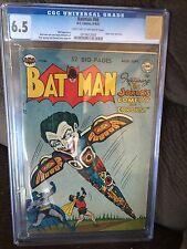 BATMAN 66 CGC 6.5 GOLDEN AGE DC COMIC JOKER FROM 1951