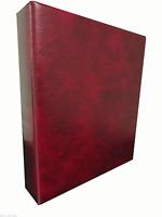 RED BRITANNIA STAMP ALBUM / BINDER - 4 'D' RING - SPINE POCKET - STANLEY GIBBONS