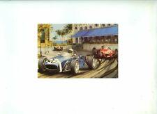 Stirling Moss Rob Walker Racing Lotus 18 Monaco Grand Prix 1961 Signed Postcard