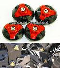 Frame Hole Cap Cover Plug Low & Up Red Fit KAWASAKI Ninja EX 250 300 250R 300R