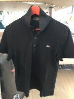 Lacoste Pre Owned Polo Shirt M Size Men (excellent Condition) Color Black