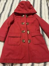 Mini Boden Red Girls Duffel Coat In Age 6-7 Years! FREE POST!