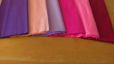 "6 SHEETS OF CREPE PAPER 19""x78""   FUN BRIGHT PINKS/PURPLES MIX"