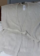 SUPER CUTE BANANA REPUBLIC TUNIC LENGTH SWEATER VEST Size XL REDUCED to $25.00