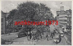 Foto AK Bielefeld Jahnplatz Haus der Technik Straßenbahn um 1930 Nr. 111