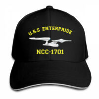 Star Trek USS Enterprise Fitted Flat Adjustable Cap Snapback Baseball Hat
