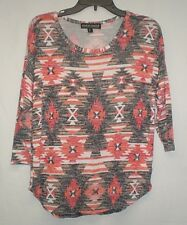 Almost Famous Womens Multi Color Size Large Sweater Shirt Top