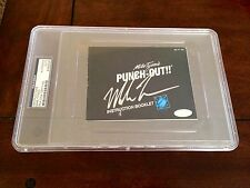 Mike Tyson Signed Nintendo Punch Out Instruction Booklet PSA/DNA Steiner Slab #2