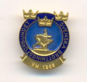 FILA 1966 World Wrestling Championships Sweden team pin badge