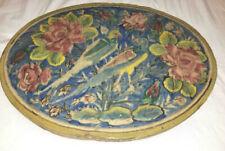 "Antique Persian Tile Iznik Qajar Dynasty, Faience/Islamic Art/Ceramic, 17"" x 13"""