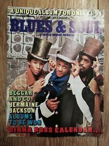 BLUES & SOUL MAGAZINE # 346 JANUARY 1982 JERMAINE JACKSON DIANA ROSS CALENDAR