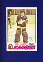 Gary Edwards 1977-78 O-PEE-CHEE OPC Hockey #345 (NM+) Cleveland Barons