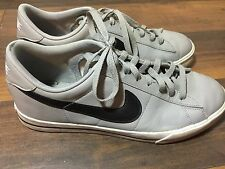 Mens Nike Sweet Classic Leather Gray Black White Sneakers 318333-039 SZ 10