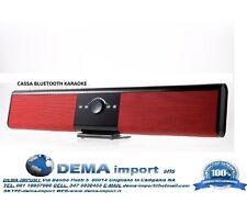 Cassa BLUETOOTH speaker KARAOKE SUPPORTO TV TELECOMANDO USB TF RADIO TG018