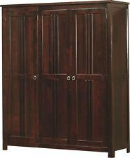 Sweet Dreams Curlew Mahogany 3 Door Wardrobe Solid Wood Traditional