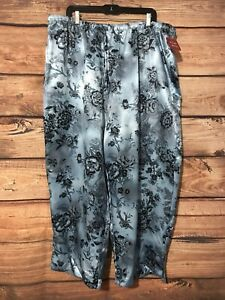 Gilligan O'Malley 100% polyester floral multi-color pajama bottoms Size XXXL