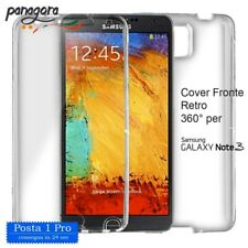 Cover 360° Fronte retro in TPU per Samsung Galaxy NOTE 3 silicone trasparente