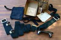Vintage Luggage Strap on Wheel Kit Roll-O-Matic Wheels Pull Strap