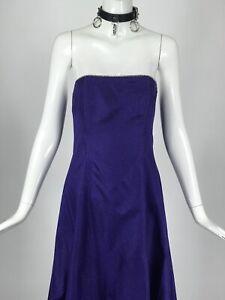 Vintage 90s 00s Jessica Mcclintock Purple Gown Holographic Glitter Rhinestones