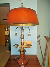 Vtg Frederick Cooper Brass Lamp 3 Candle Holders with Snuffers w/Shade
