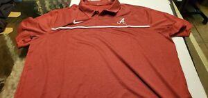 Alabama Crimson Tide NCAA Nike On-field apparel Dri-fit football polo shirt XXL