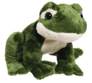 ~❤️~FROG soft toy with sound croaking by ELKA 12cms Plush BNWT~❤️~