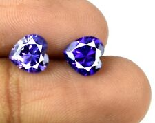 Heart Shape 4.20 Ct Purple Sapphire Loose Gemstone Pair Natural AGSL Certified