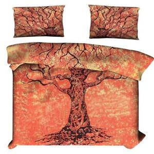 Comforter Dry Tree Design Indian Cotton Fabric Duvet Cover Queen Size Beautiful