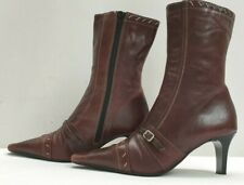 CLARKS ladies womens brown ankle boots Size UK 4 EU 37