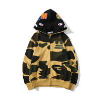 Zipper Camouflage A Bathing Ape Bape Jacket Hoodie Sweatshirt Coat Chest Badge