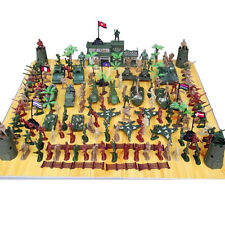 146Pcs Toy Army Soldiers Kit Military Playset Plastic Combat Platoon Xmas Gift