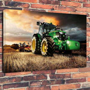 Tractor - Farming Printed Canvas Picture Multiple Sizes 30mm deep
