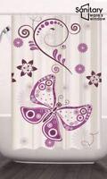 Fabric Extra Long Bathroom Shower Curtain Waterproof With12 Hooks 180 /200 CM UK