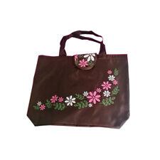 Am_ BU_ Flower Oxford Cloth Waterproof Handbag Reusable Folding Shopping Bag Rap