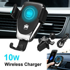 10W Fast Qi Wireless Charger Car Mount Vent Charging Holder Stand For iPhone X 8