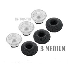 3PCS Medium Earbuds Eargels Eartips Foams For Plantronics Voyager Legend Headset