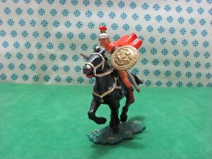 Vintage - Soldier Roman With Cape IN Horse 70 MM Elastolin 8457