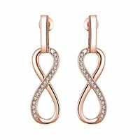 Rose Gold Infinity Drop Earrings with Crystals from Swarovski®