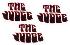 "Pontiac 1969 69 GTO ""The Judge"" Rear Deck Lid & Front Fender Decals Kit BLACK"