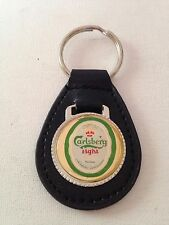 Carlsberg Light Beer Keychain Key Fob Vintage Key Chain