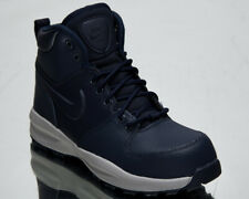 Nike Manoa LTR GS Older Kids' Youth Obsidian Blue Leather Autumn Winter Shoes