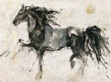 LEPA ZENA ART PRINT BY MARTA GOTTFRIED 15.75x11.75 black abstract horse poster