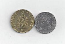 2 NICE COINS from HONDURAS - 10 & 50 CENTAVOS (BOTH DATING 2007)