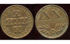 PORTUGAL  20 centavos   1963  bis